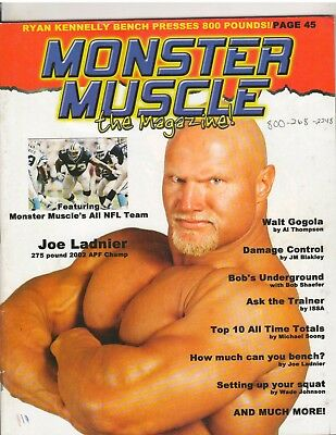 MONSTER MUSCLE WEIGHTLIFTING Powerlifting Strongman Magazine