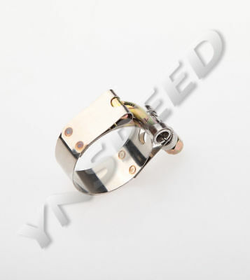 """1PC 1.25"""" Turbo Pipe Hose Coupler T-bolt Clamps Stainless Steel 37-42mm"""