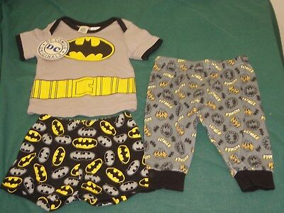 baby boy size 00 dc comics originals batman pyjamas 3 piece set