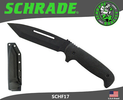 Schrade Extreme Fixed Knife Full Tang Tanto 8Cr13MoV Rubber Handle Sheath SCHF17