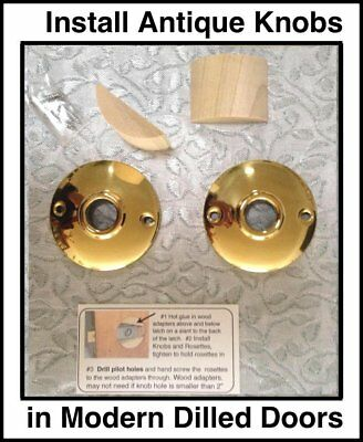 Antique Knob Retrofit Kit to Fit Modern Pre-Drilled Doors. If you have the Latch