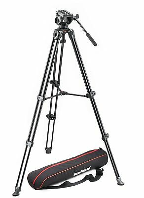 Manfrotto Tripod with fluid video head Lightweight with Side Lock  MVK500AM