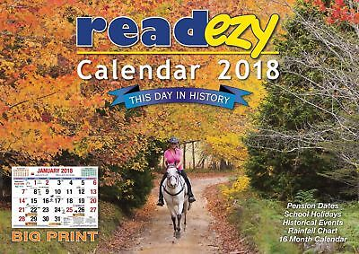 ReadEzy Calendar 2018 - This Day in History - Big Print