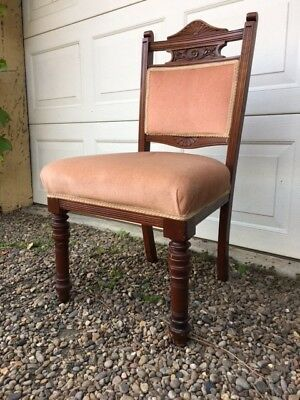 Victorian mahogany upholstered chair
