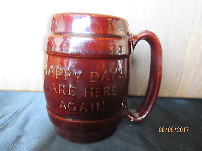 Vintage Hull Stoneware Mug Happy Days Are Here Again