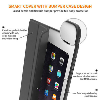 Magnetic Slim Leather Smart Cover Soft Silicone Case For ipad mini4