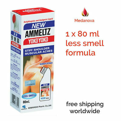 1 x Ammeltz Yoko Yoko less smell 80ml for Stiff Shoulders & Muscular Pain Relief