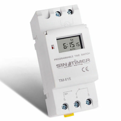 SINOTIMER Electronic 7 Days Programmable Digital TIME SWITCH Relay Timer Control