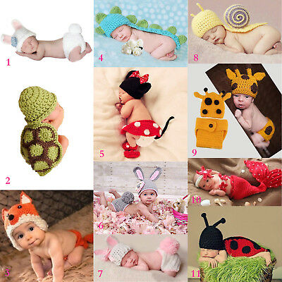 Baby Costumes Prop Knit Newborn Photo Outfits Crochet Girls Photography Boys