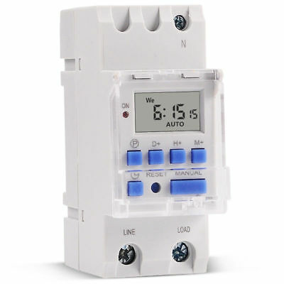SINOTIMER High Power 7 Day Digital Programmable 220V 30A Timer Switch Controller