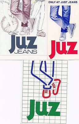 Juz jeans set of 3 stickers from the 1980's New Old Stock