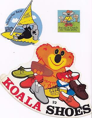 KOALA SHOES set of 3 stickers from the 1980's New Old Stock
