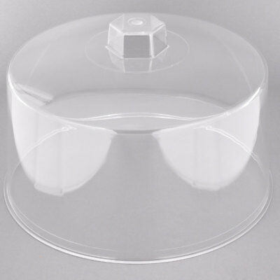 Tablecraft 421 Plastic Clear Cake Cover with Plastic Handle 30.5 x 19 cm