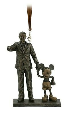 """NEW Disney Parks Walt Disney and Mickey Mouse """"Partners"""" Statue Figure Ornament"""