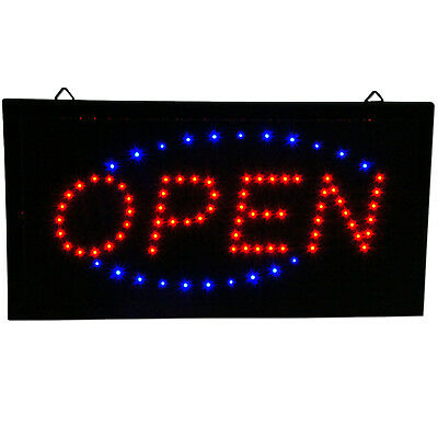 """Ultra Bright Animated LED Light Open Business Bar Store Window Sign neon 19x10"""""""