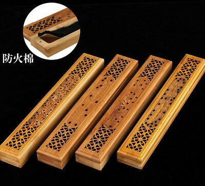 Hollow Bamboo Incense Burner Holder Censer Tower Holder Box Sticker Cone 竹香盒香炉