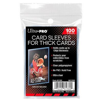 UltraPro Ultra Pro Soft Card Sleeves THICK 130pt Pack of 100 Acid Free