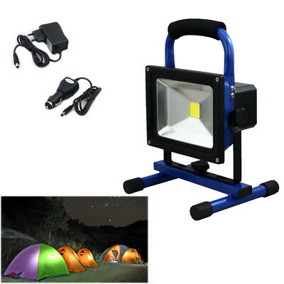 20W Blanc IP65 Waterproof Projecteur LED Portable Rechargeable Adaptateur