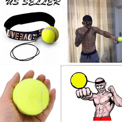 Ball mit Kopfband Set Punching Reaktion Fokus Training Boxen MMA Übung