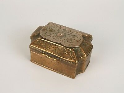 An Unusual 19th Century Malay Mixed Brass Betel (Sirih) Box.