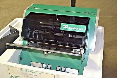 Nagel FOLDNAK-1 bookletmaker stapler folder finisher machine (Made in Germany)
