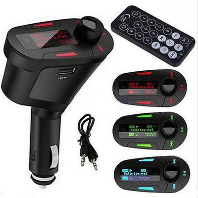Car FM Transmitter 3.5mm AUX Multifunction Kit MP3 Player With Charger for Phone