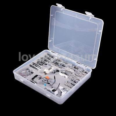 32pcs Boxed Domestic Sewing Machine Presser Foot Feet Set for Brother Singer