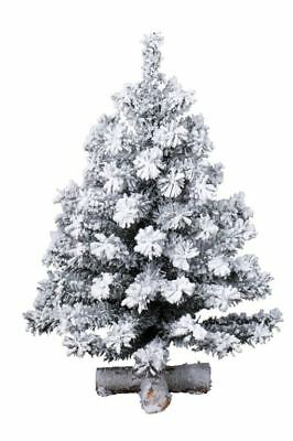 45cm Kaemingk Toronto Mini Realistic Snow Effect Christmas Xmas Tree White