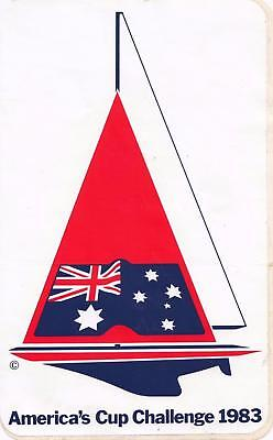 America's Cup Challenge 1983 large sticker 15.5 cm x 25.5 cm