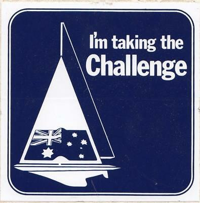 America's Cup Challenge 1983 I'm taking the challenge sticker 8.5 cm x 8.5 cm