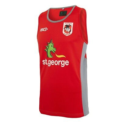 St George Illawarra Dragons 2017 Training Singlet Sizes S - 3XL NRL ISC SALE