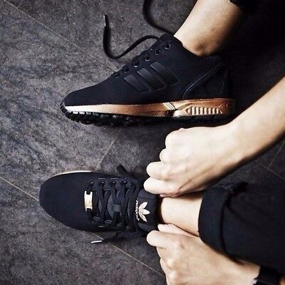 Adidas ZX Flux Metallic Copper Core Black/Bronze Rose Gold Limited Edt. S78977
