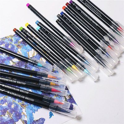 20 Color Pens Set Watercolor Drawing Painting Brush Artist Sketch Manga Marker
