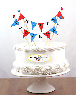 Happy Birthday,Cake Topper Bunting Decoration, Many Colours, Premium Quality