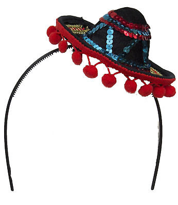 Costume Accessory - Multicolored Sequin Mini Sombrero Headband