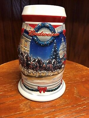 2001 Budweiser Holiday Stein in Box with Certificate of Authenticity