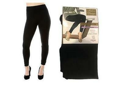 WHOLESALE JOBLOT LADIES THICK WINTER THERMAL LEGGINGS FLEECE LINING 12 Pcs BLACK