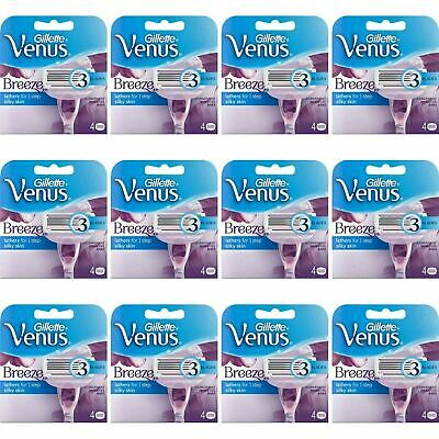 48 x Gillette Venus Breeze Women's Replacement Razor Blades with Shave Gel Bars