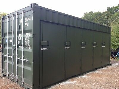 Shipping Containers 20 Ft Modified 5 Doors In Side,shelving,vented
