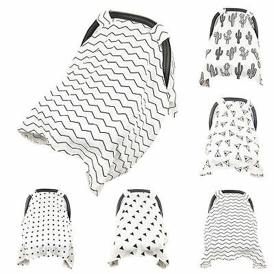 Baby Infant Muslin Cotton Blanket Seat Basket Canopy Swaddle Buggy Cover Shade