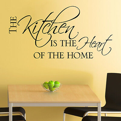 Kitchen Wall Sticker The Kitchen is the Heart of the Home Dining Room Decal Art