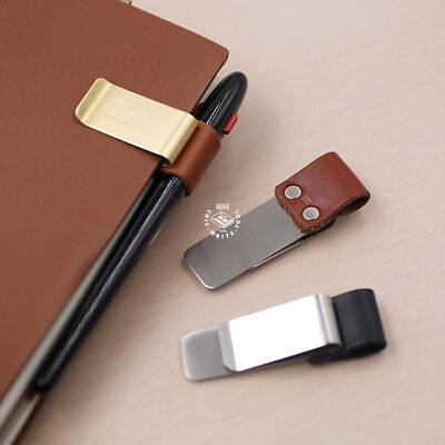 Brass Pen Clip Holder for Planners Travelers Notebook Midori Accessories