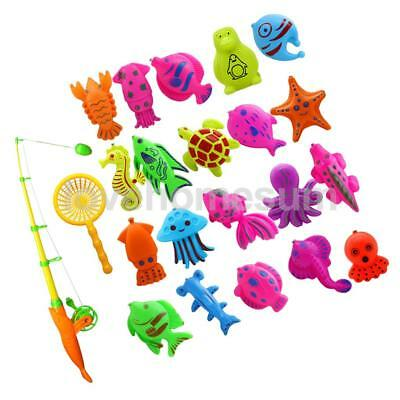 22Pcs Baby Bath Time Magnetic Fishing Toy Fish Model Set Kid Fish Water Toy