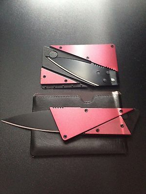 NEW ARRIVAL! Credit card cutting tool letter opener in wallet.RED