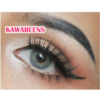 Kontaktlinsen Contact Lenses Color Soft Big Eye Makeup Lady Lens Mini Lapis Gray
