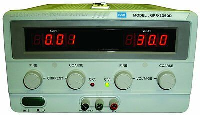 GW Instek GPR-3060D Single Output Linear DC Power Supply with LED Display, Low 6