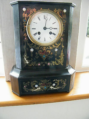 Beautiful French inlaid clock