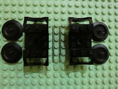 LEGO x 20 Black Train Wheel RC Train NEW 9V 57878