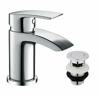 FUNIME BATHROOM BASIN Taps Mixer Mono Chrome Brass Single Hole with ...