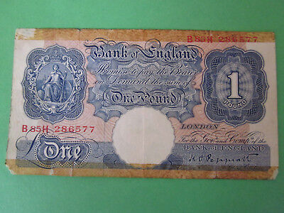 1934-39 1 pound banknote Bank of England / Great Britian